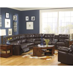Signature Design by Ashley Kennard - Chocolate Reclining Living Room Group