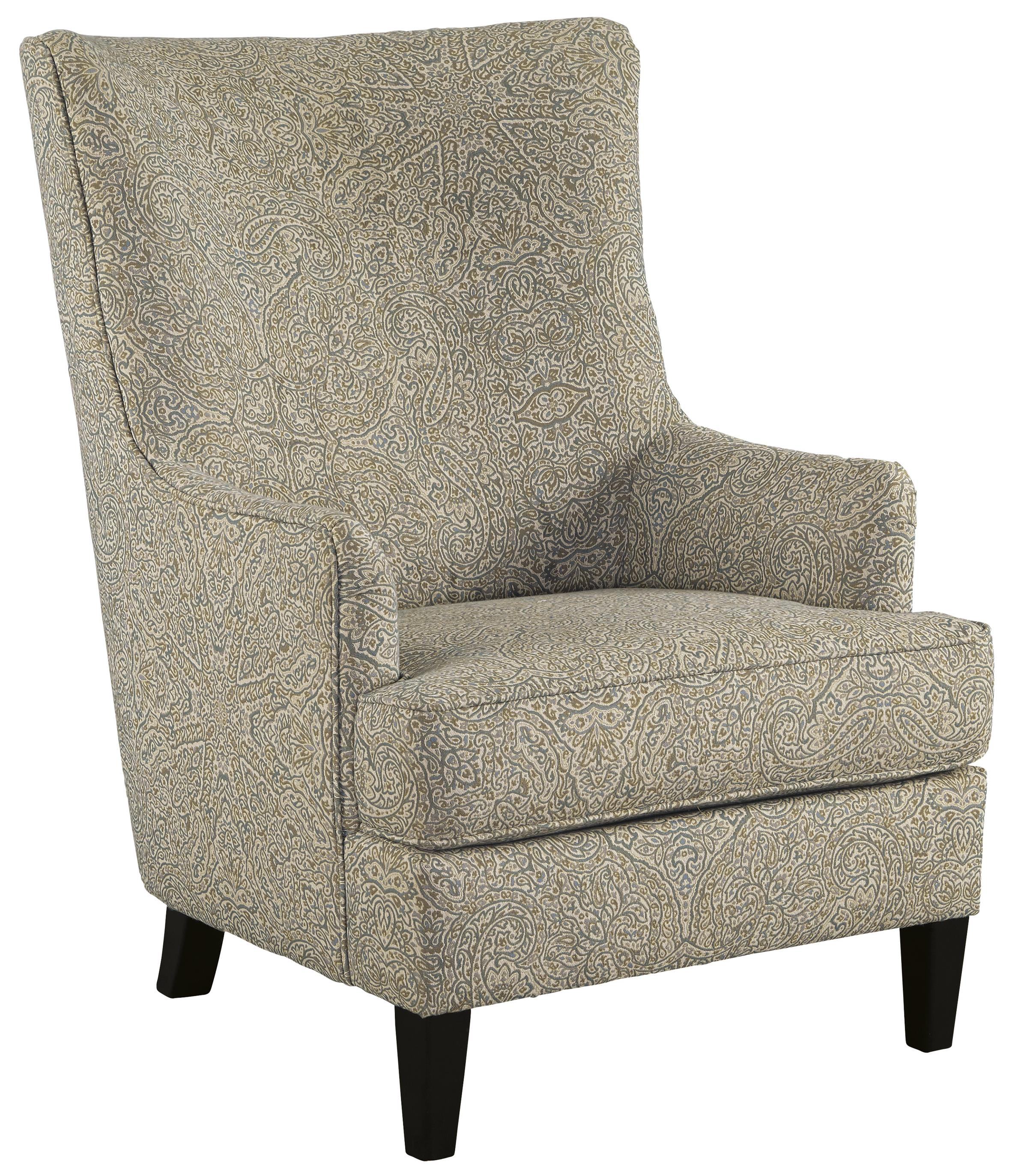 Transtional Accent Chair with Wing Back by Signature Design by