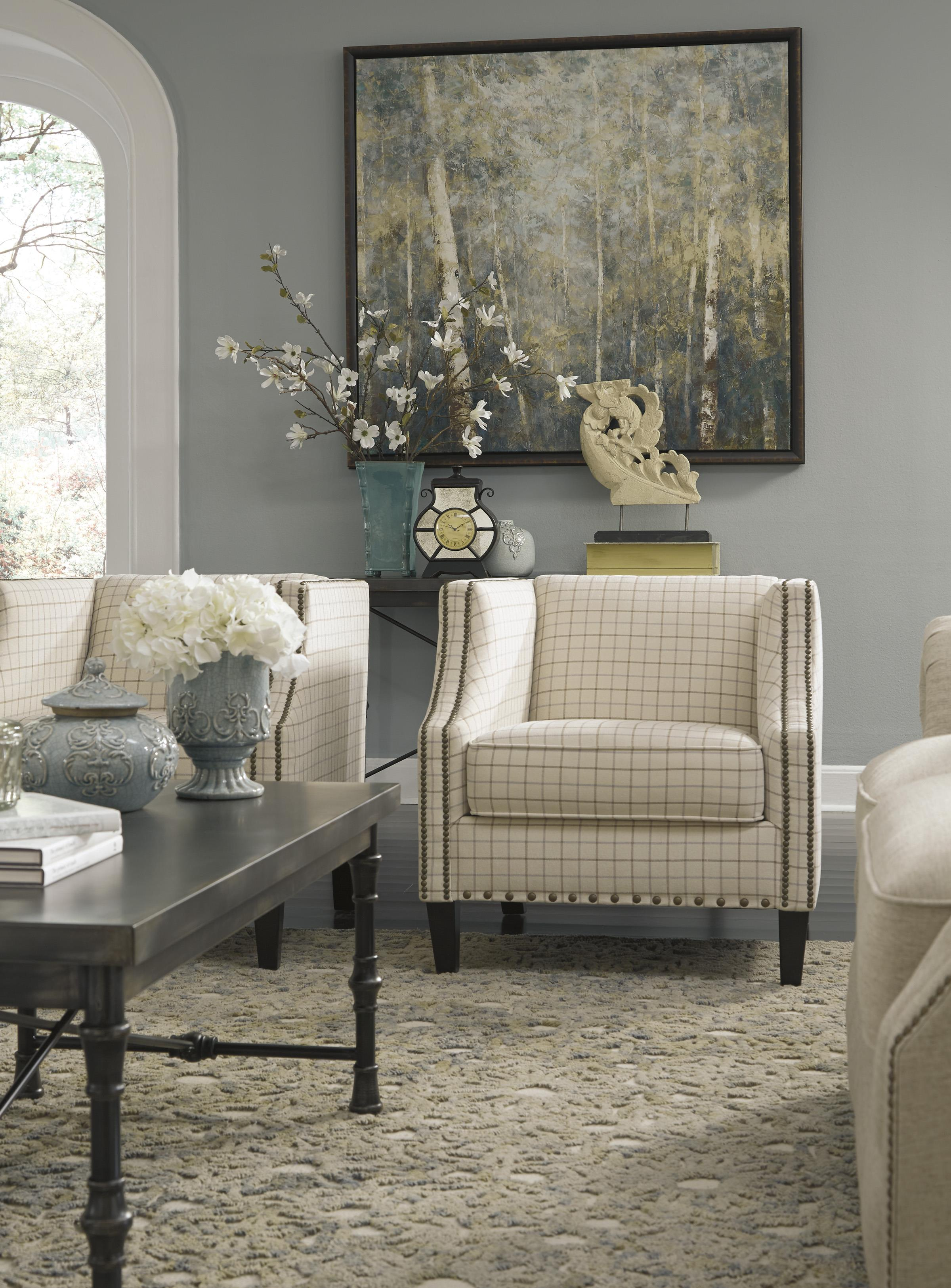 Club Style Accent Chair with Nailhead Trim by Signature Design by