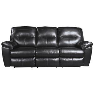 Faux Leather Contemporary Reclining Sofa