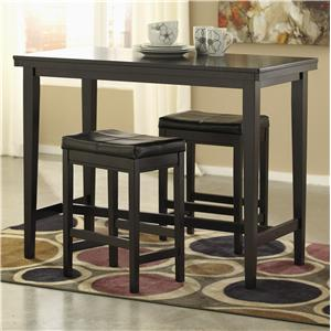 Signature Design by Ashley Kimonte 3-Piece Counter Table Set with Stools