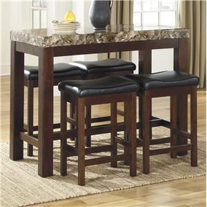 Signature Design by Ashley Kraleene 5-Piece Counter Table Set