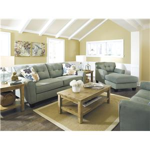 Signature Design by Ashley Furniture Kylee - Lagoon Stationary Living Room Group
