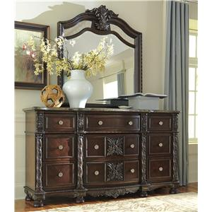 Signature Design by Ashley Laddenfield Dresser & Bedroom Mirror