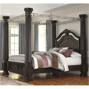 Signature Design by Ashley Laddenfield King Canopy Bed-FLOOR SAMPLE ONE ONLY!