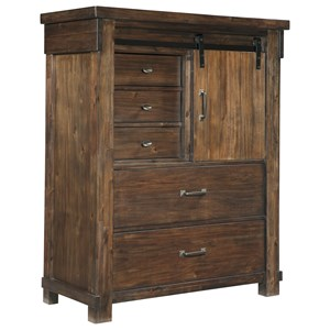 Five Drawer Chest with Barn Door