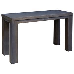 Modern Rustic Sofa Table in Gray Finish