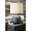 Malthace Patina Metal Table Lamp