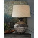 Magan Antique Bronze Finish Metal Table Lamp