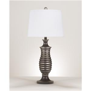 Signature Design by Ashley Lamps - Contemporary Set of 2 Rory Metal Table Lamps