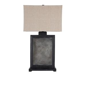 Signature Design by Ashley Lamps - Vintage Casual Shalonda Black/Silver Wood Table Lamp