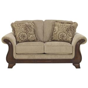 Loveseat with Faux Wood Accents