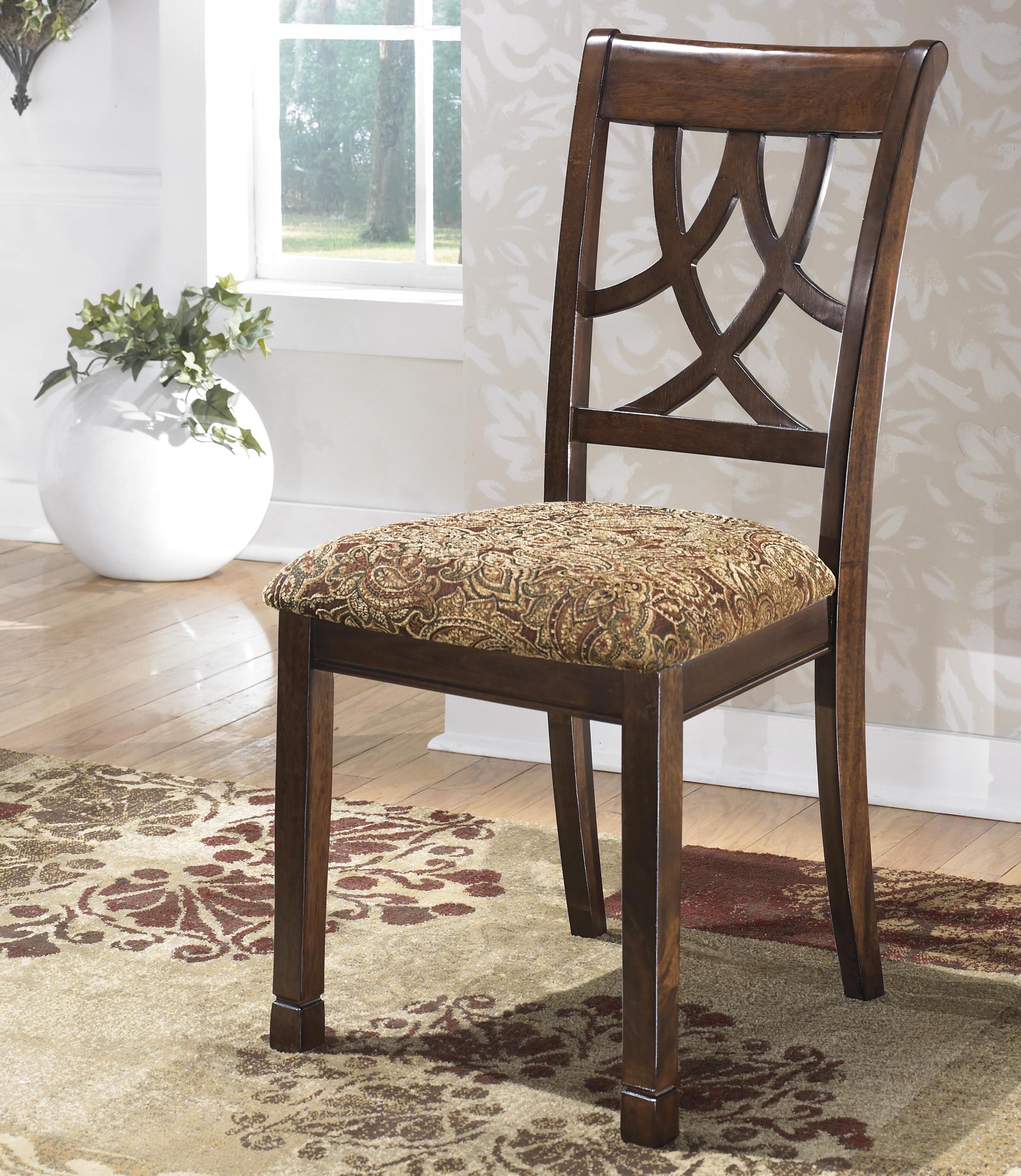 Cherry Finish Dining Upholstered Side Chair By Signature