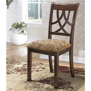 Cherry Finish Dining Upholstered Side Chair