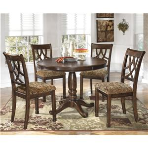 Signature Design by Ashley Leahlyn 5-Piece Round Dining Table Set