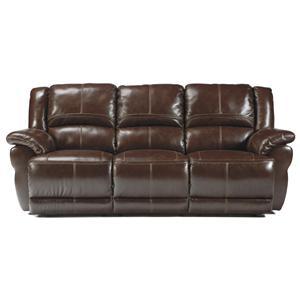 Signature Design by Ashley Lenoris - Coffee Reclining Sofa