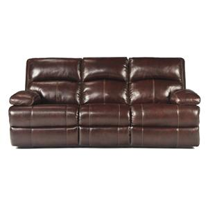 Signature Design by Ashley Lensar - Burgundy Reclining Power Sofa