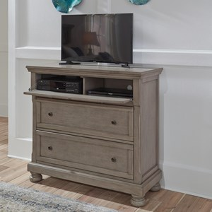Casual Media Chest with Wire Management
