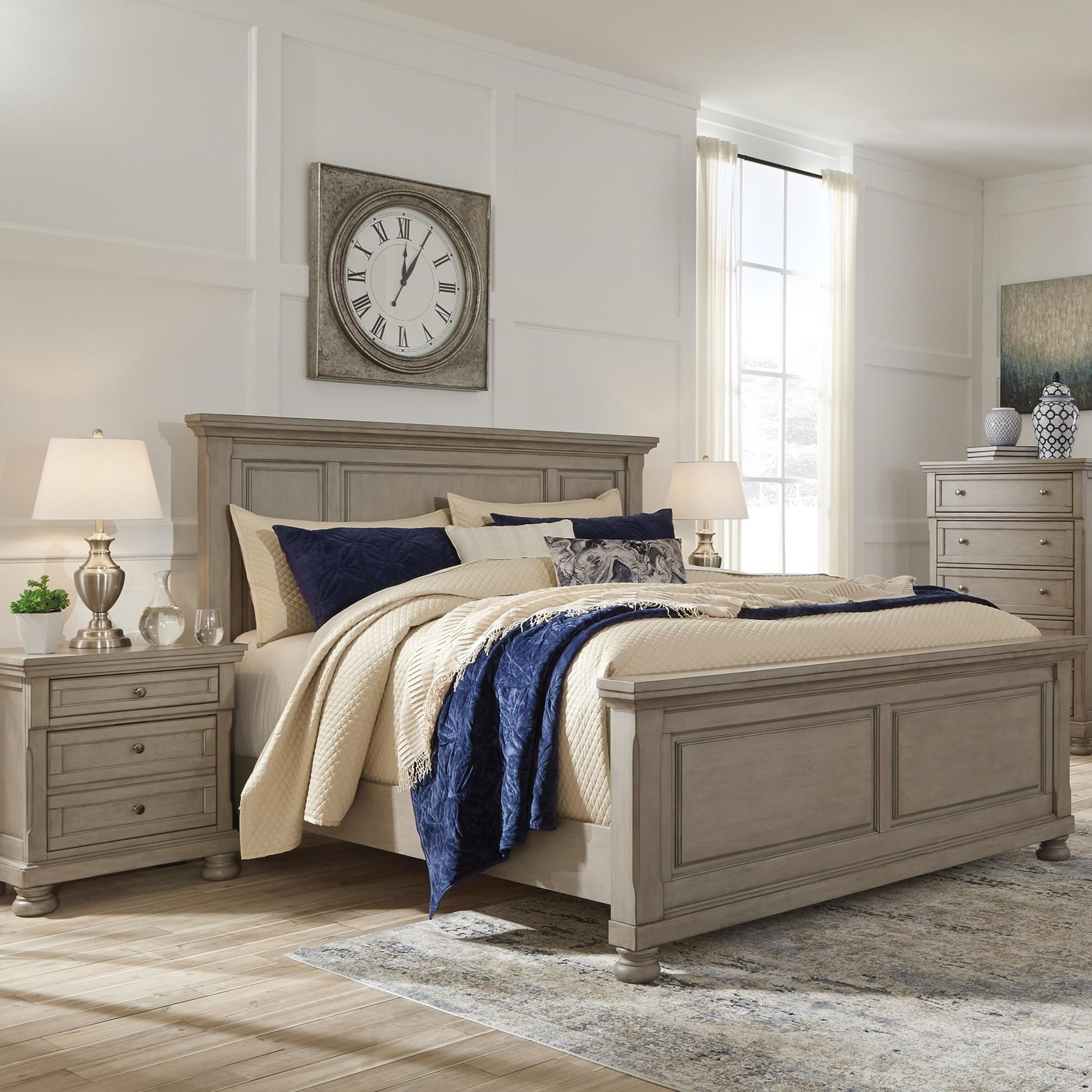 Casual King Panel Bed By Signature Design By Ashley Wolf