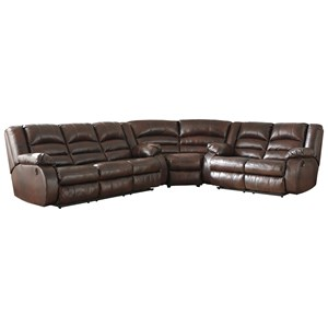 3-Piece Leather Match Power Reclining Sectional
