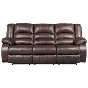 Leather Match Reclining Sofa
