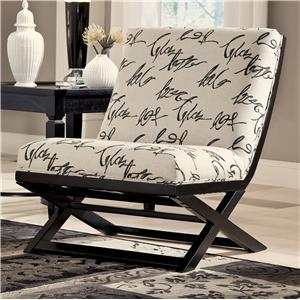 Signature Design by Ashley Levon  - Charcoal Showood Accent Chair