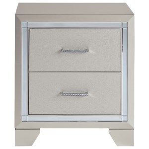 Glam Two Drawer Nightstand