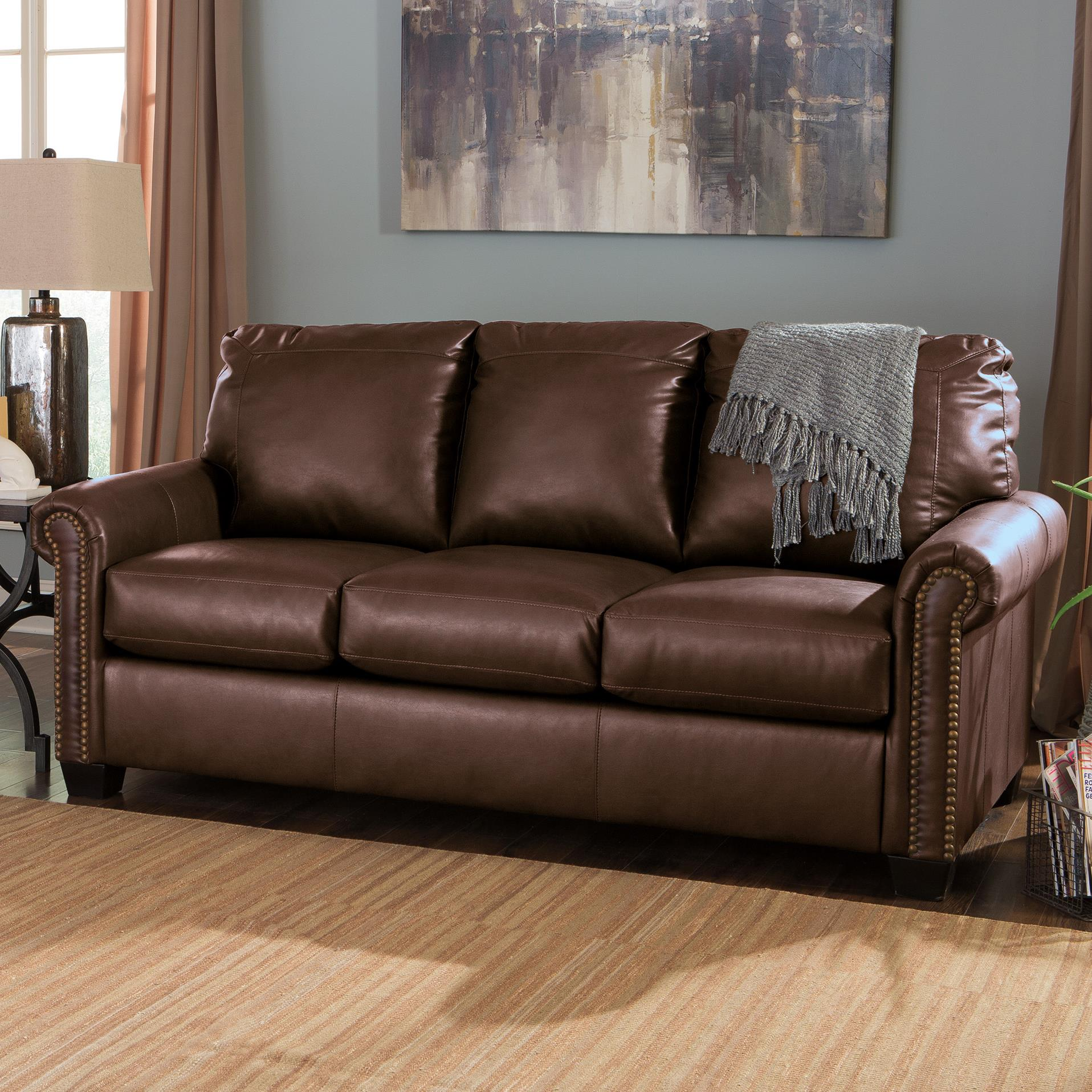 Transitional Bonded Leather Match 78 Full Sofa Sleeper With  ~ Sofa Sleepers With Memory Foam Mattress