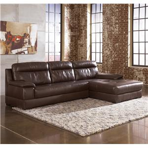Signature Design by Ashley Luke - Espresso 2-Piece Sectional