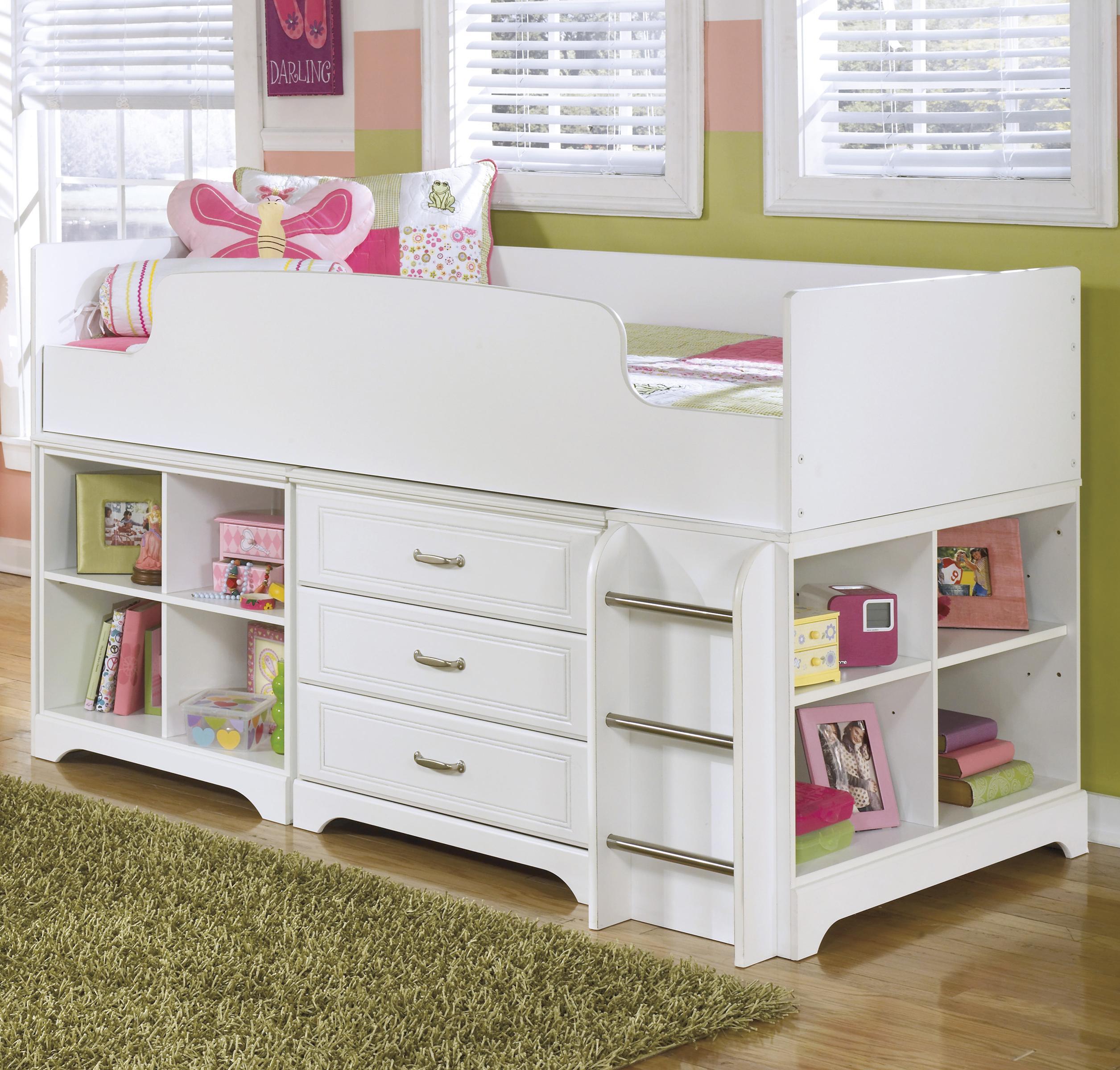Twin Loft Bed w/ Loft Bin & Drawer Storage