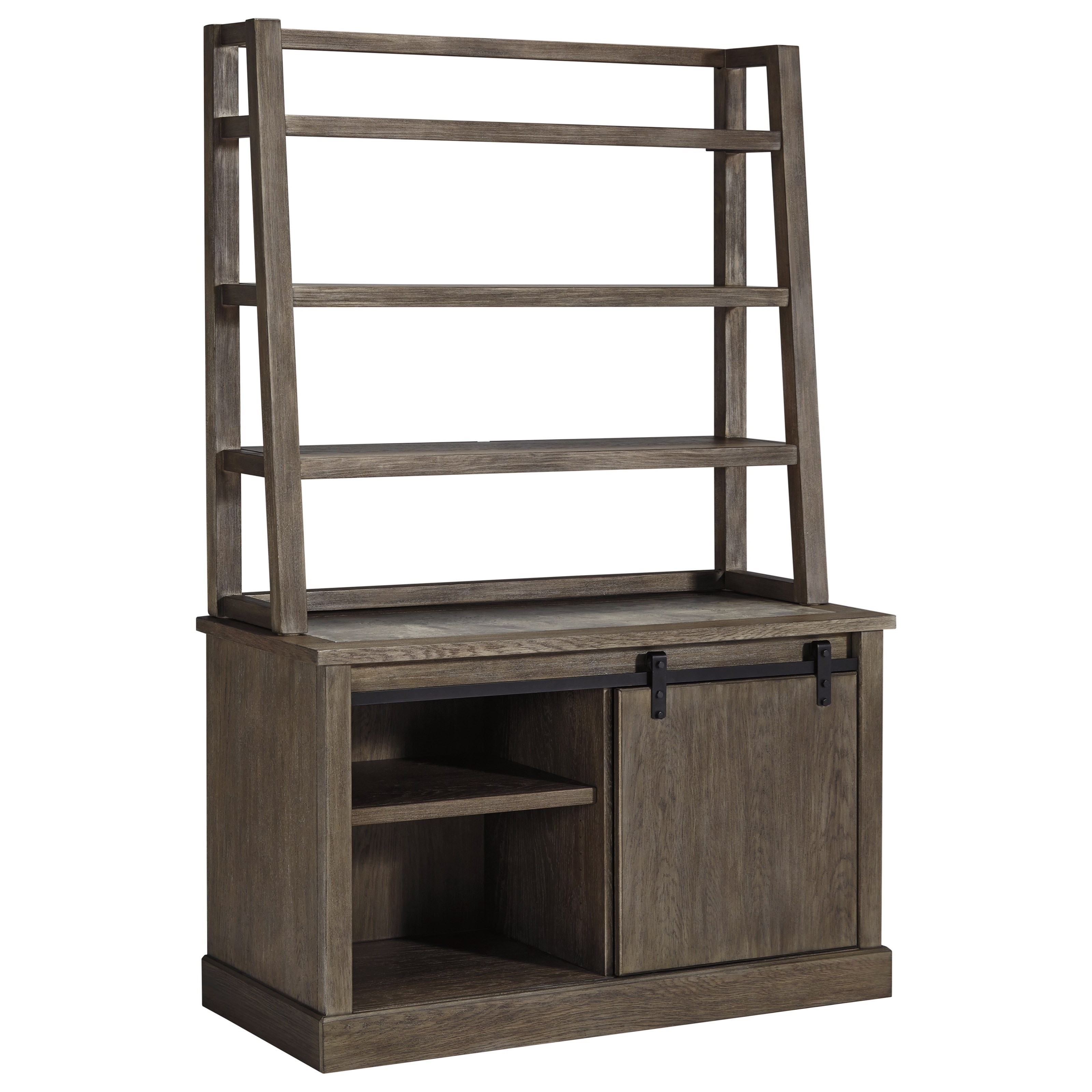 bookcase ashley furniture by with vintage credenza pc products hutch tier bookcases open relaxed design