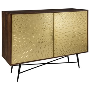 Accent Chest with Sunburst Brass Metal Doors