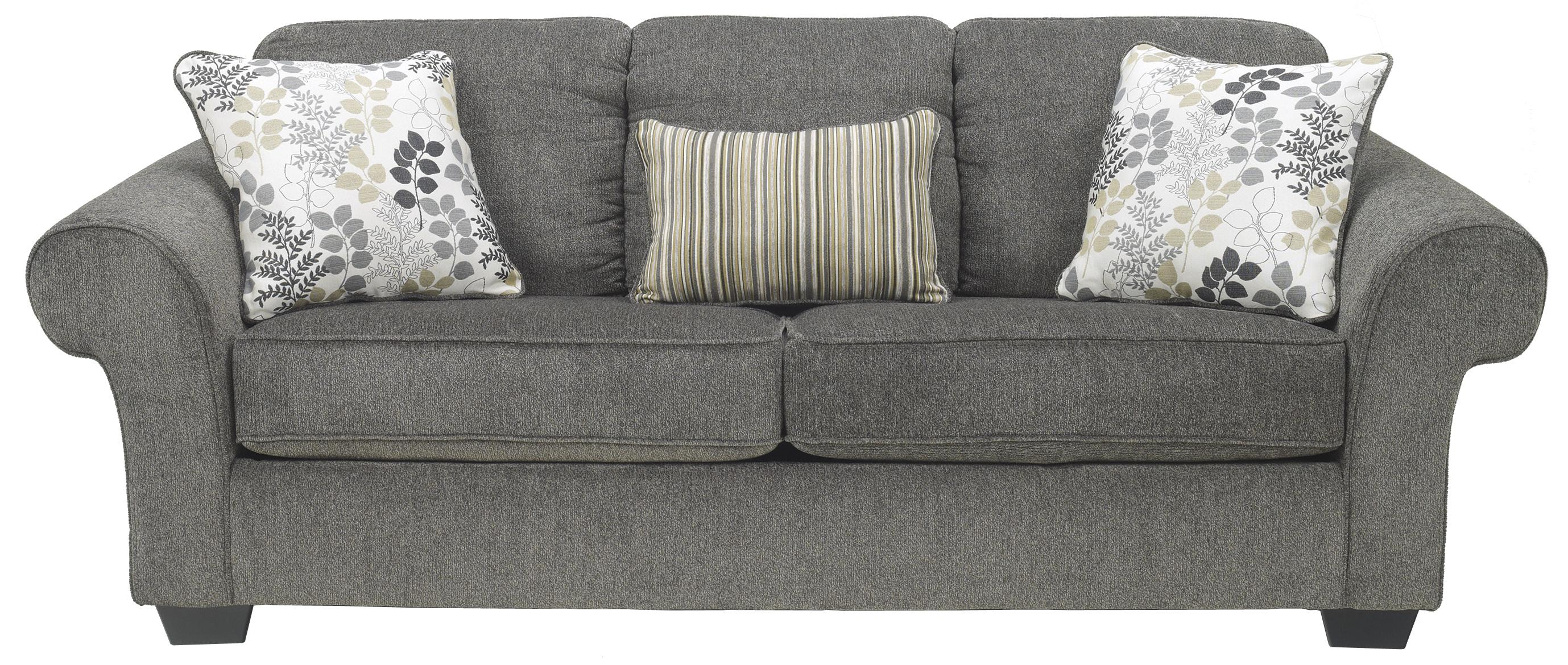 Queen Sofa Sleeper With Large Rolled Arms And 2 Seat Cushions