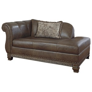 Traditional Left Arm Facing Corner Chaise