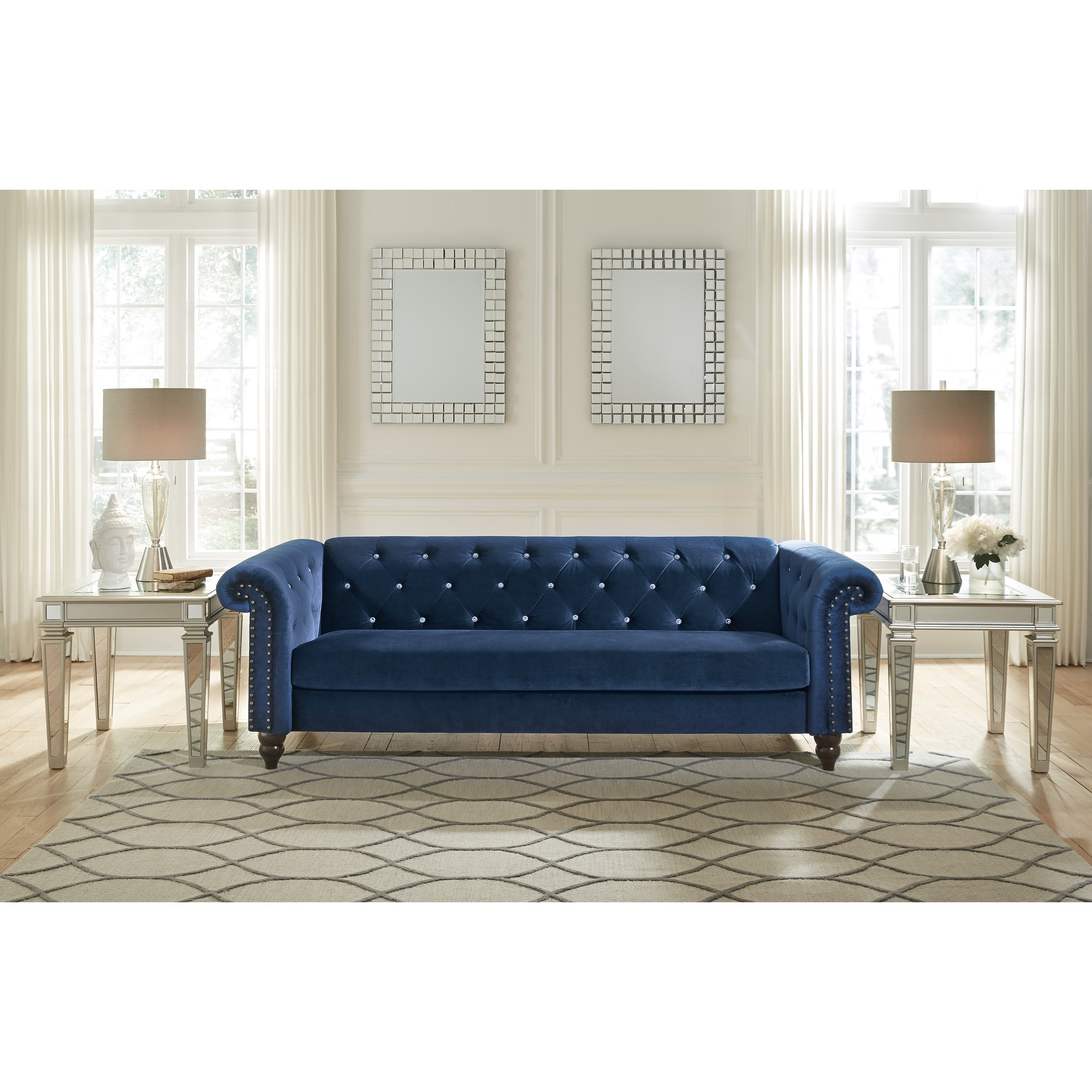 Chesterfield Sofa With Diamond Tufting By Signature Design By Ashley