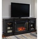 XL TV Stand with Electric Fireplace Insert