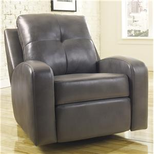 Signature Design by Ashley Mannix DuraBlend - Gray Swivel Glider Recliner