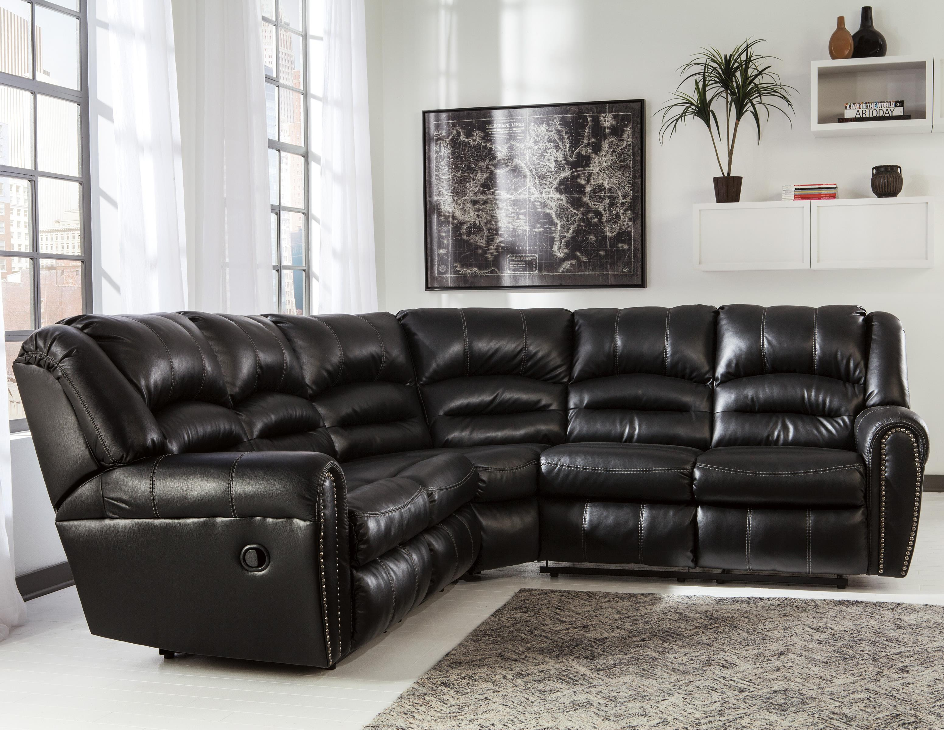 Reclining Sectional with Nailhead Trim by Signature Design by