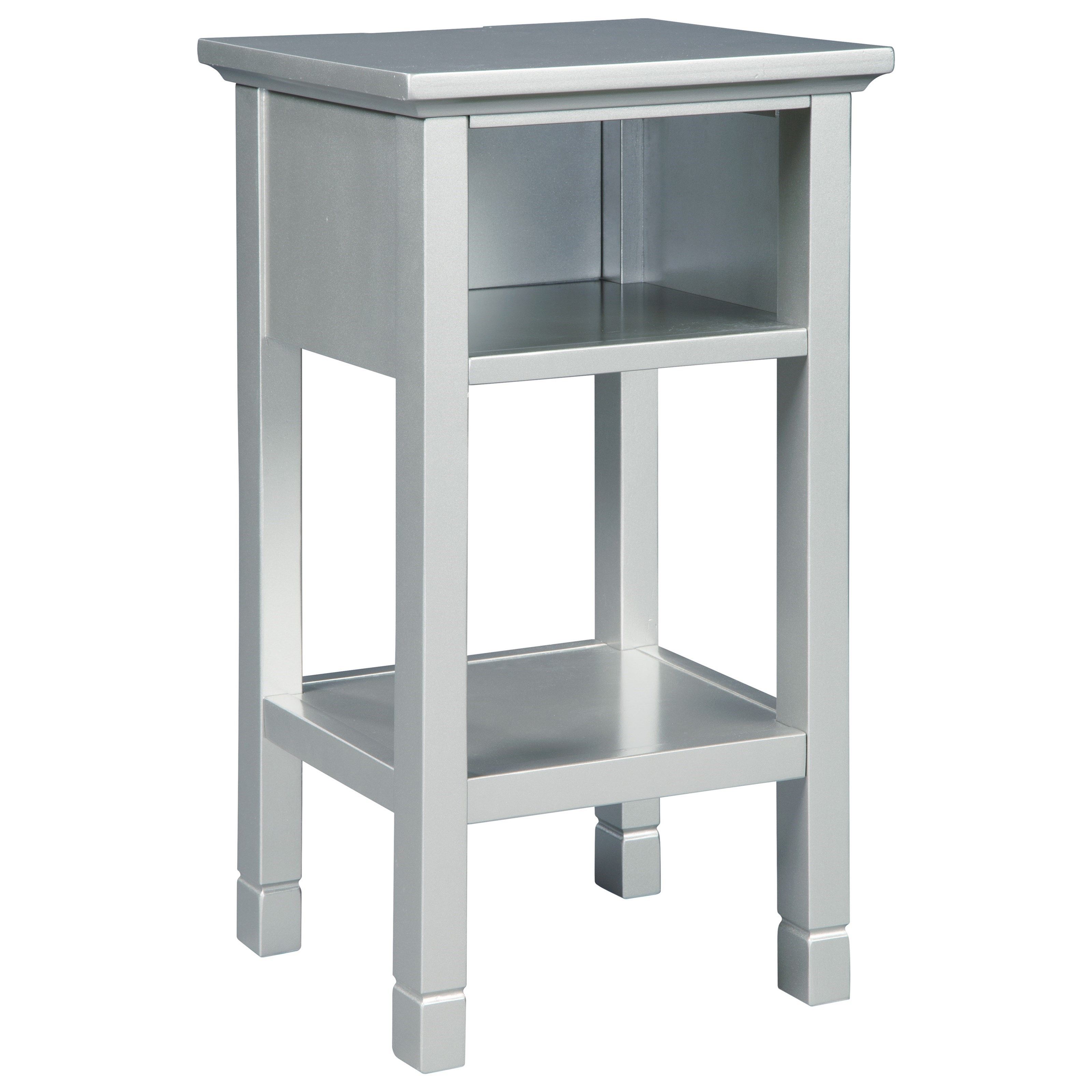 Contemporary Accent Table with Cubby & Shelf