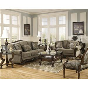 Signature Design by Ashley Martinsburg - Meadow Stationary Living Room Group