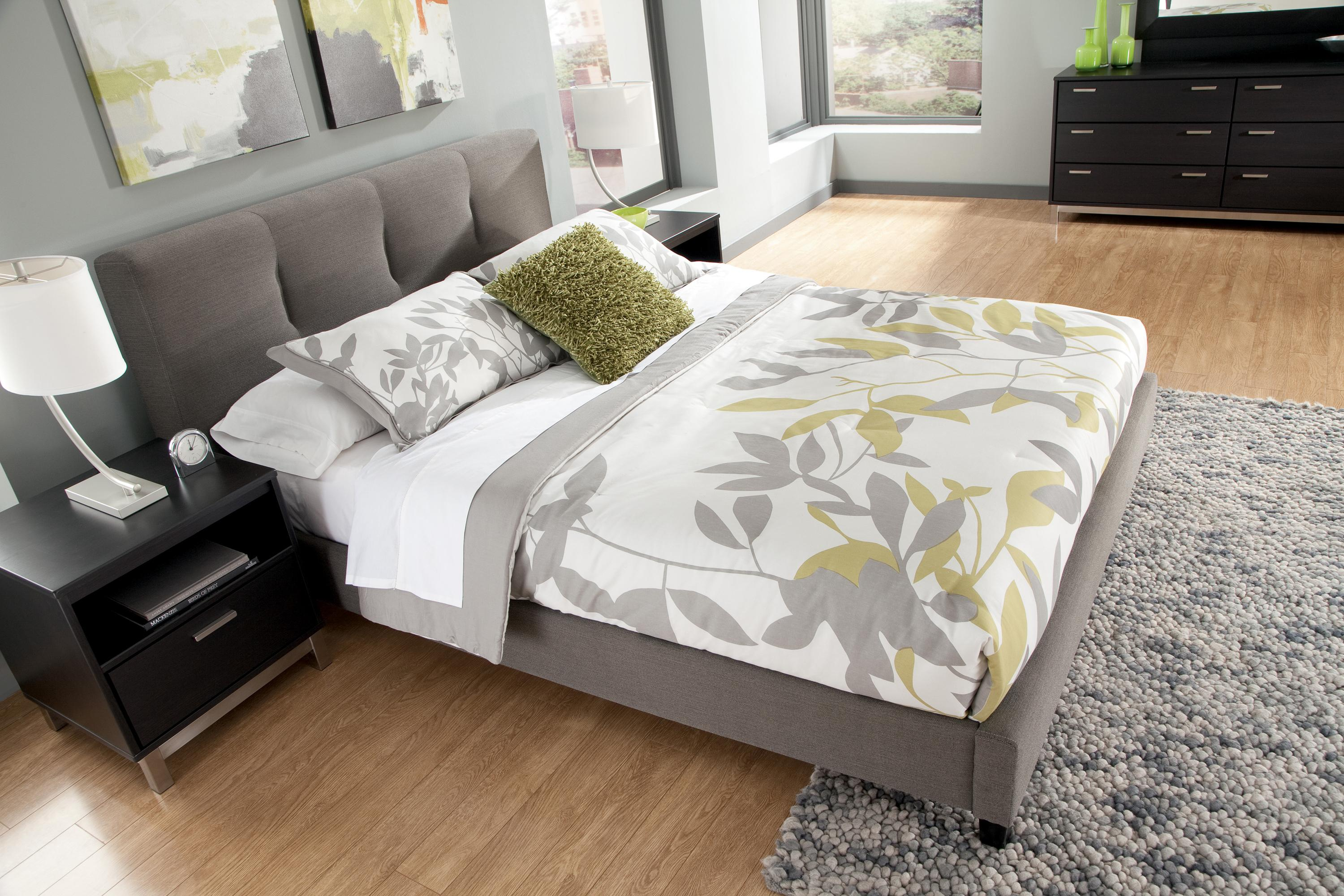 king upholstered platform bed - King Padded Bedroom Designs