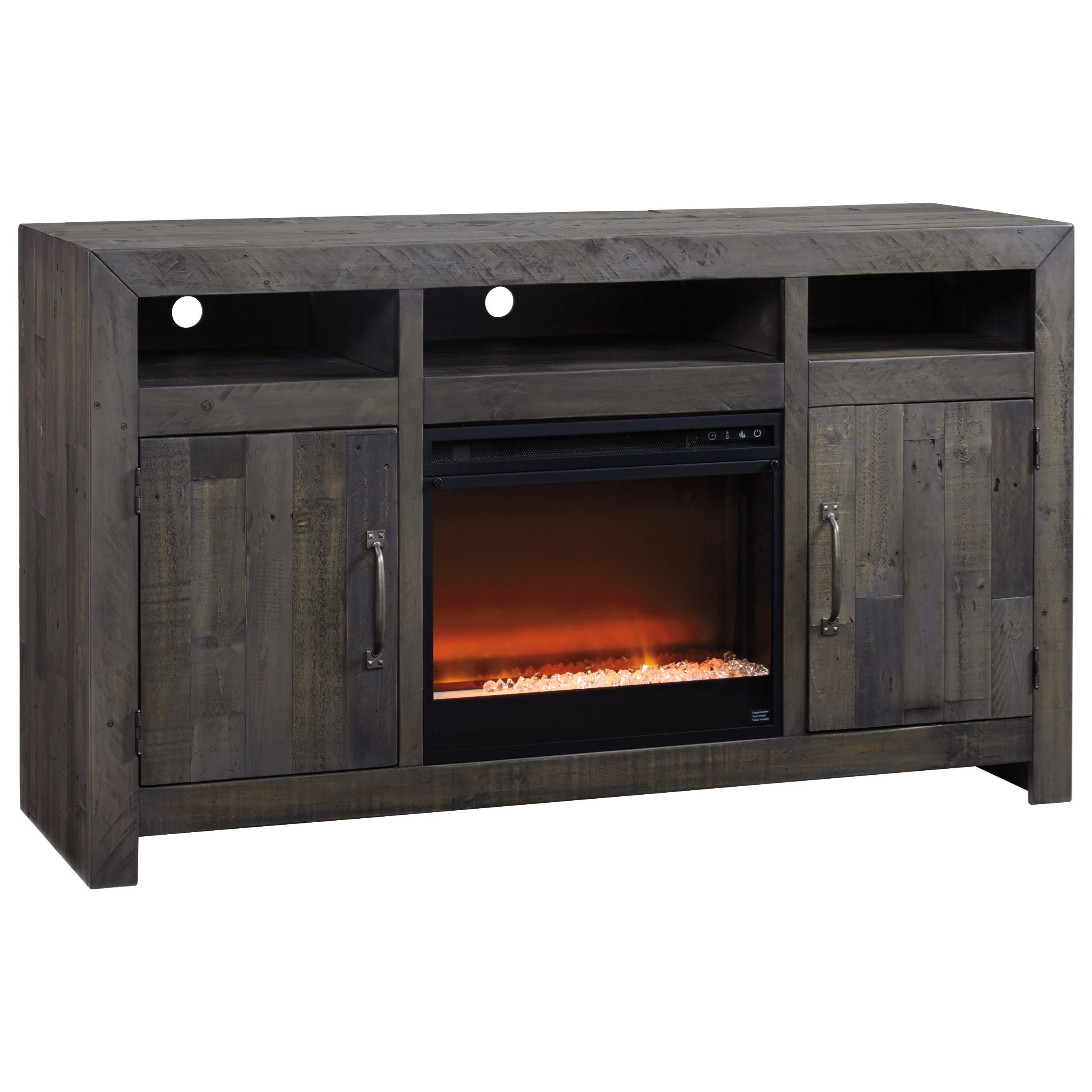 Reclaimed Solid Wood Large Tv Stand With Contemporary