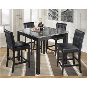 Signature Design by Ashley Furniture Maysville Square Counter Table Set