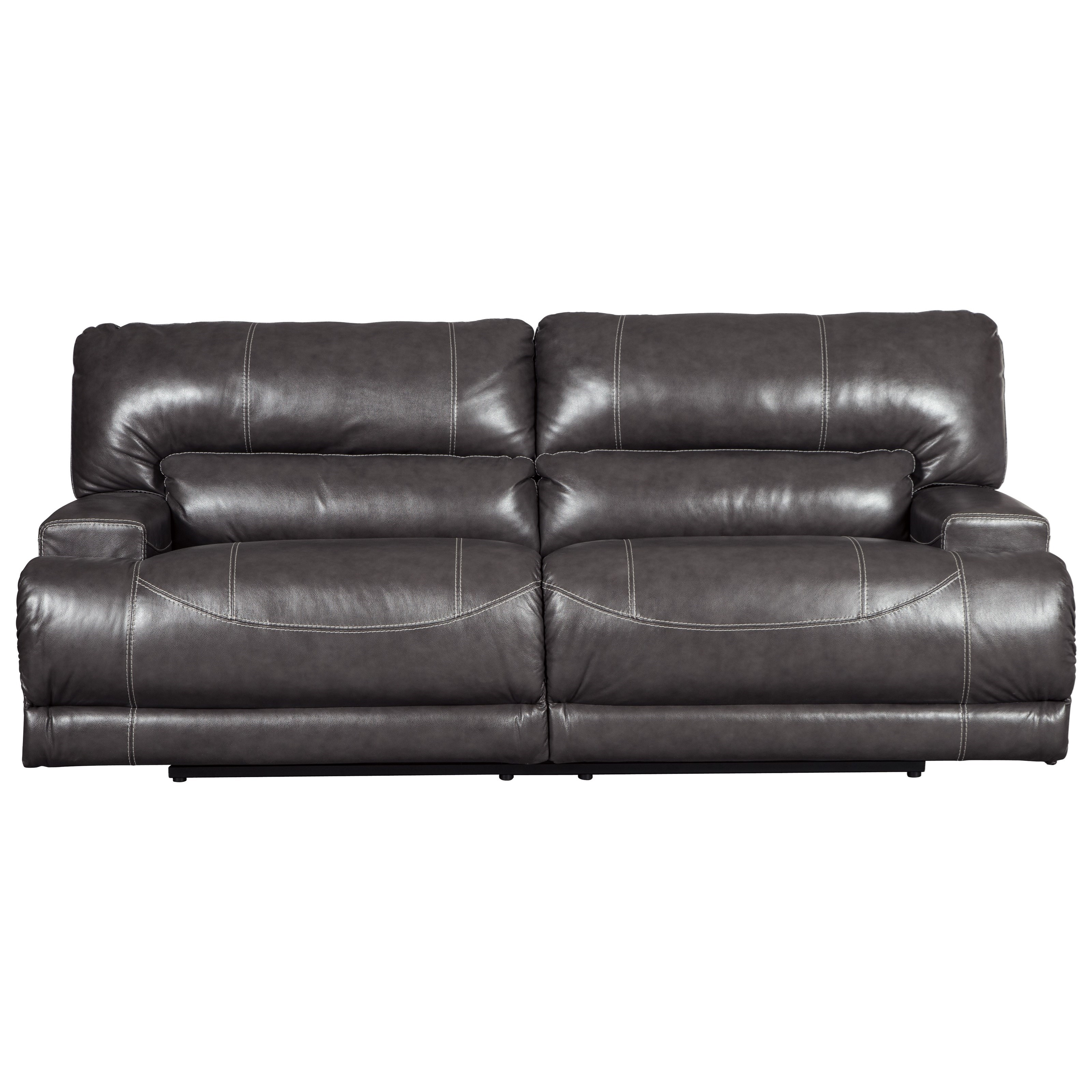 Contemporary Leather Match 2-Seat Reclining Power Sofa