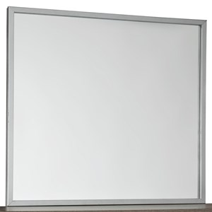 Bedroom Mirror with Metallic Finish