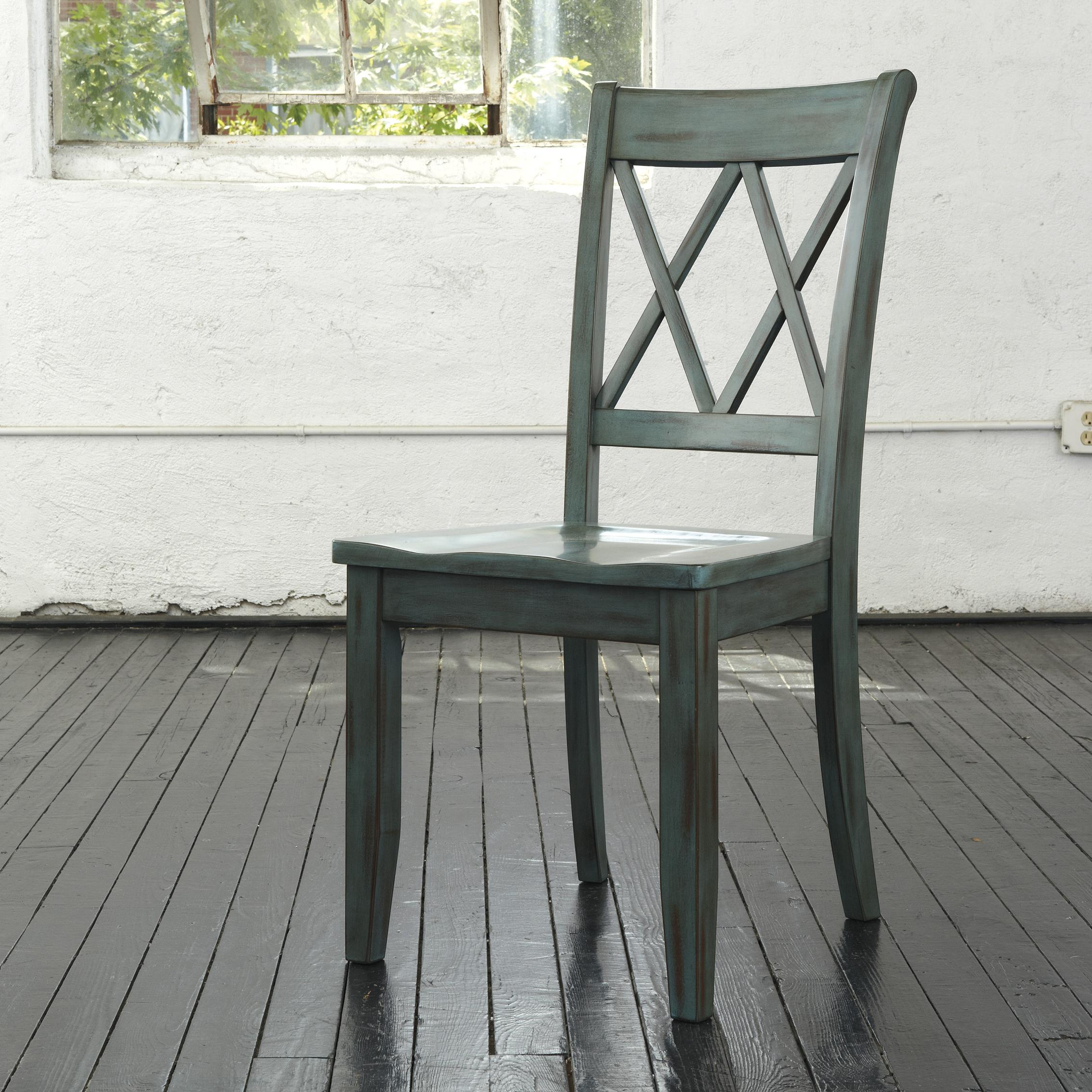 Antique Blue/Green Dining Room Side Chair By Signature