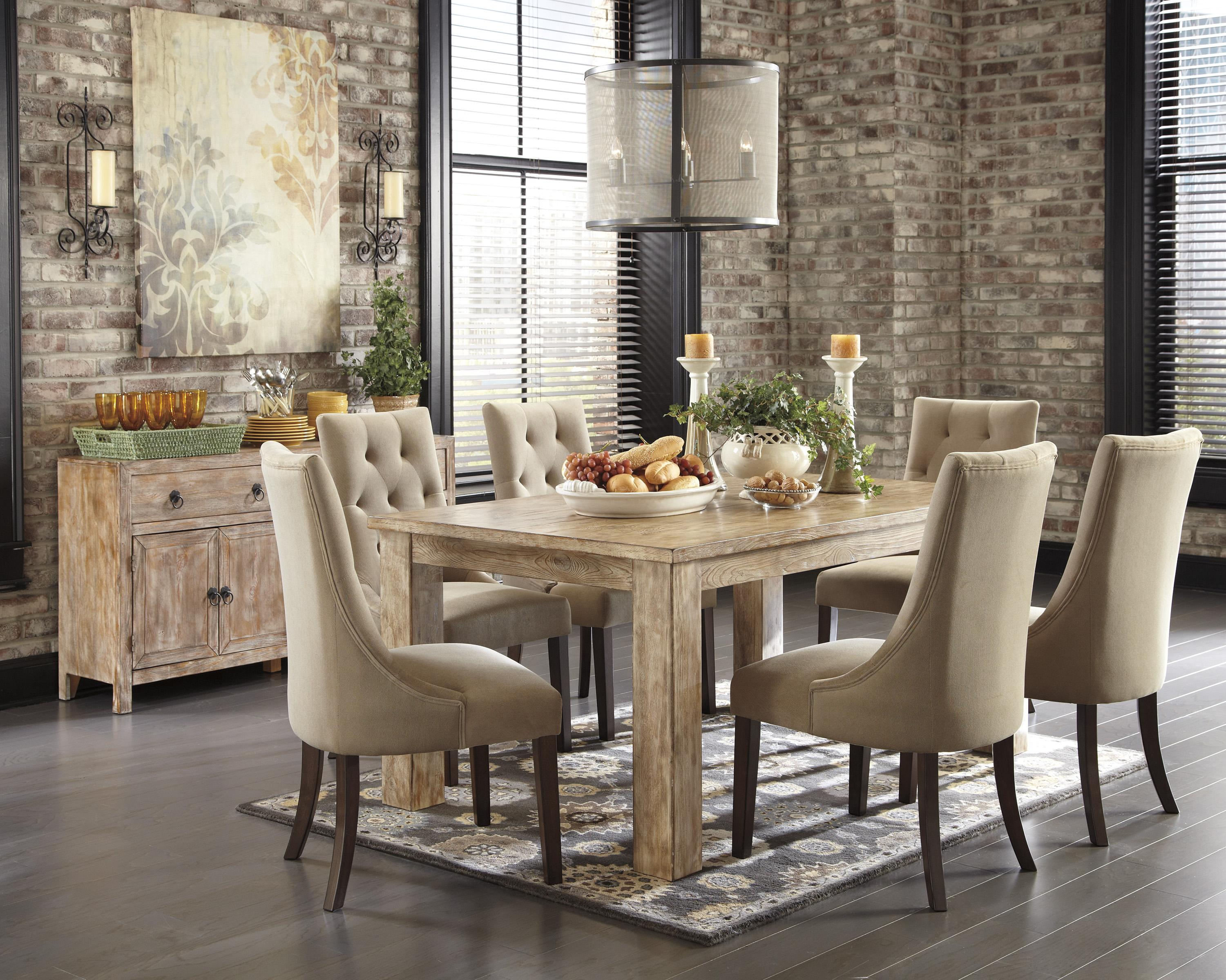 Piece Dining Set With Upholstered Chairs