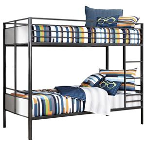 Signature Design by Ashley Furniture Metal Bunk Beds Twin/Twin Metal Bunk Bed