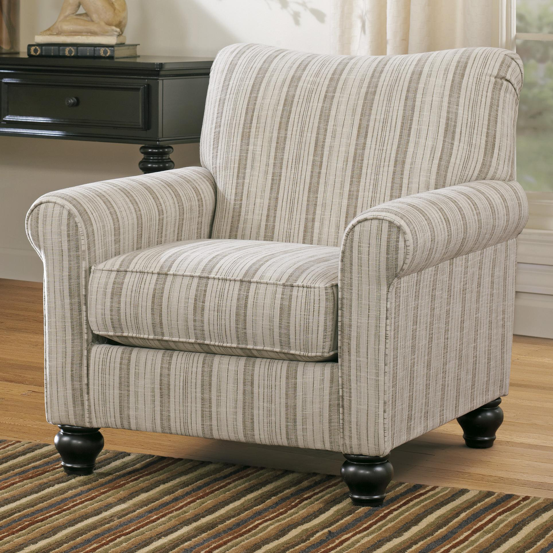 Transitional Stripe Accent Chair By Signature Design By