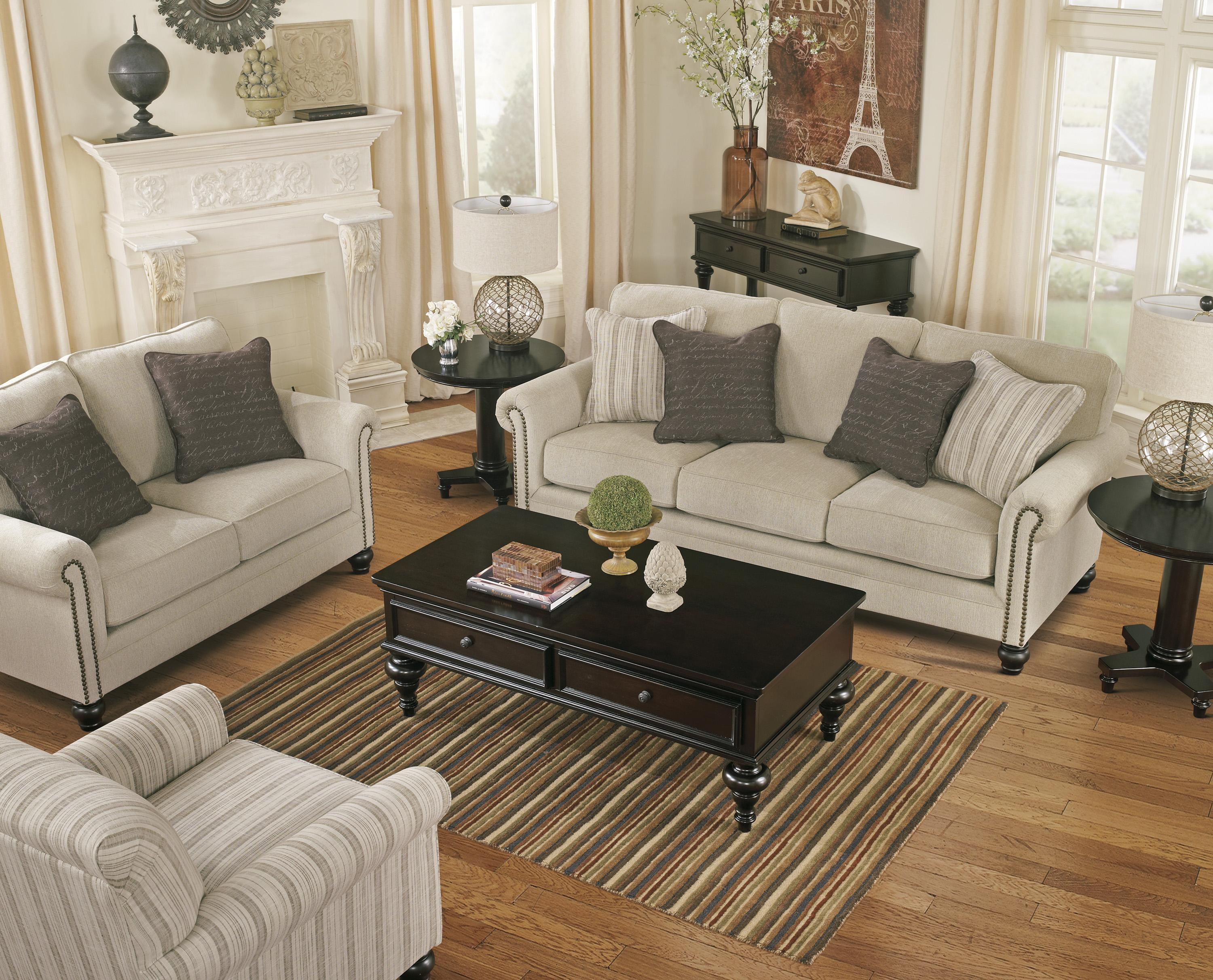 Transitional stripe accent chair